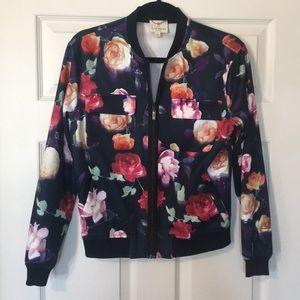 Neoprene Julie Brown floral bomber jacket